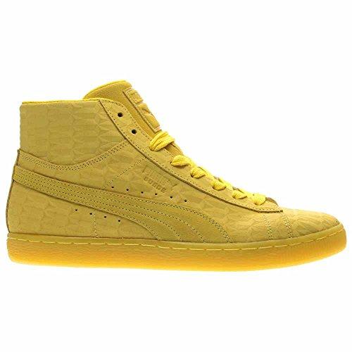 Puma Herren Mid Me Iced Wildleder Mode Sneaker Butterblume / Weiß