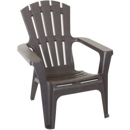 Durable Commercial Grade Plastic Adirondack Chair, Brown
