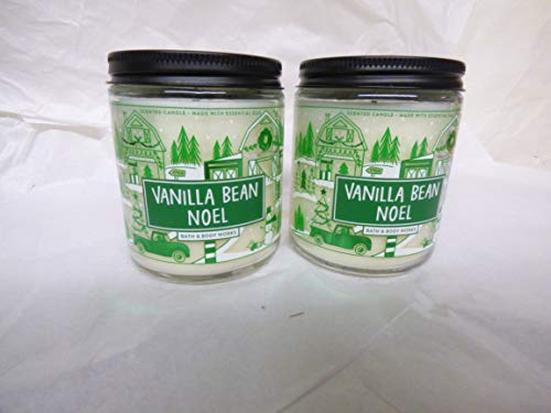 B Bath and Body Works Vanilla Bean Noel 7 oz Single Wick Candle lot of 2 (Noel Candle)