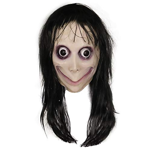 Waylike Scary Mask Horror MOMO Mask for Halloween Costumes Cosplay Mask