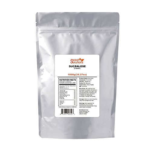 Pure Sucralose (Powder) 1KG, Meets FCC & USP (1kg Powder)