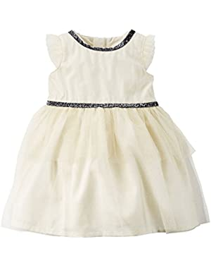 Carters Baby Girls Sparkle Tiered Tulle Dress