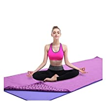 MFY Yoga Mat Towel - Ultra Soft, Sweat Absorbent, Quick Drying, Ultra-light Weight, Non Slip and Skidless Bikram Hot Yoga Towels - Perfect For Hot Yoga,Pilates,Gym