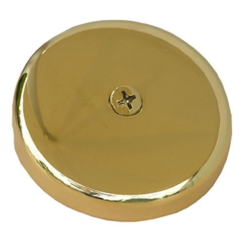LASCO 03-1435 One Hole Style Bathtub Waste And Overflow Plate with Screw, Polished Brass
