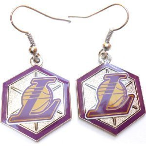 Los Angeles Lakers NBA Hex Style Dangle Earrings
