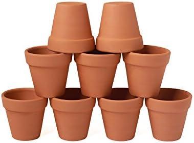 YXMYH 9 Pcs Mini Small Terracotta Pot Clay Pots 3 Clay Ceramic Pottery Planter Cactus Flower Pots Succulent Pot Drainage Hole- Indoor Outdoor Plant Crafts