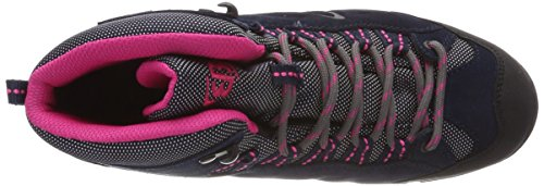 Bruetting Damen Mount Bona High Kids Trekking-& Wanderstiefel Blau (Marine/Pink)