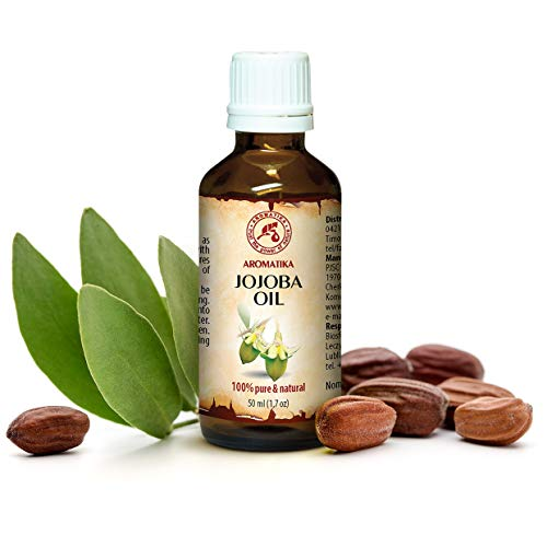 Jojoba Oil 50ml - Simmondsia Chinensis Seed Oil - 100% Pure & Natural - Golden Jojoba Oils Best Benefits for Skin - Hair - Face - Body - Excellent w/Essential Oil -for Beauty - Aromatherapy - Massage