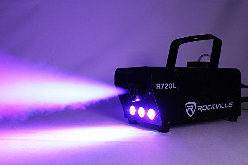[Rockville R720L Fog/Smoke Machine w/ Remote+Multi Color LED Built In!] (Party Fog Machine)