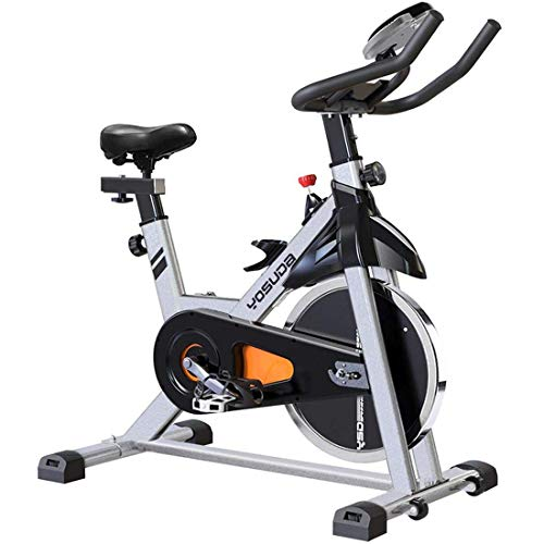 YOSUDA Indoor Cycling Bike Stationary – Cycle Bike with Ipad Mount & Comfortable Seat Cushion (Gray)
