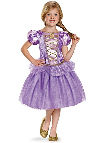 Rider Girl Costume (Rapunzel Classic Disney Princess Tangled Costume, Small/4-6X, One Color)
