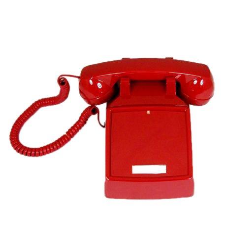250047-VBA-NDL Red desk no dial