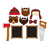 10-Piece Photo Props For Party, Lumberjack
