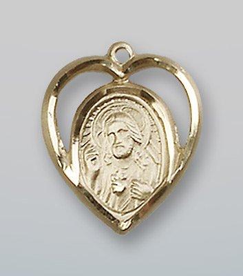 14 ktゴールドScapular Medal B0741CVJ16