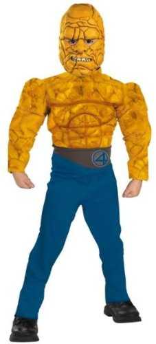 Fantastic Four The Thing Muscle Child Costume: Size 10-12 - 4 Fantastics Costumes