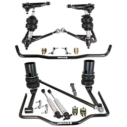 NEW RIDETECH AIR SUSPENSION SYSTEM,HQ SERIES SHOCKWAVES,REAR SHOCKS,MUSCLEBAR,STRONGARMS,REAR COOLRIDE,COMPATIBLE WITH 1967-1970 GM B-BODY CHEVROLET IMPALA,BEL AIR,BISCAYNE,CAPRICE