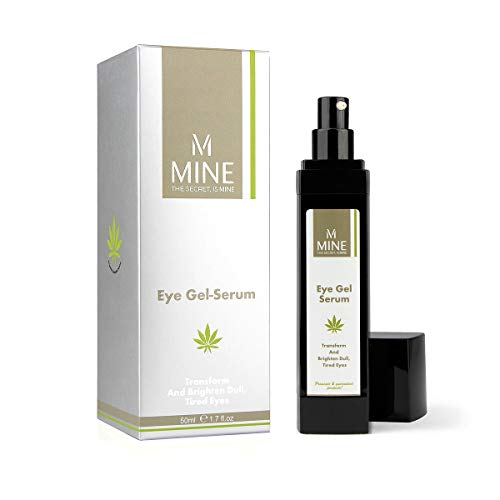 MINE-BEAUTY Eye Gel Anti Aging & Lifting Serum With Hyaluronic Acid & Timeless Collagen   Reduce Wrinkles & Fine Lines-Increase Plumpness-Erase Dark Circles-Brighten Skin-Minimize Puffiness-Fill Bags ()