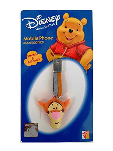 Disney Winnie the Pooh- Tigger Head Plush Charm for Cell Phone, Usb, iPod and More ()