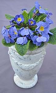 Maceta, copa, cerámica, color crema, Vintage, H 23cm, diámetro de 15cm
