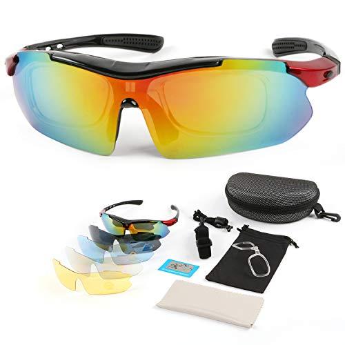 a4325e6b288a Landisun Sports Sunglasses Riding Safety Sunglasses Polarized 100% UV Lens,  Jogging Bike Sunglasses,