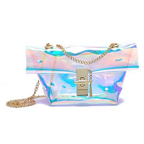 zarapack Mujer 'transparente con holograma, bandolera bolsa, Style 6 (Transparente) - BA823 Style 6