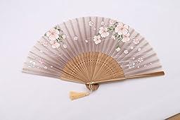 Ouly Silk fan, Chinese fan, Chinese style,fan box protection,Japan fan Multiple Colors (Brown)