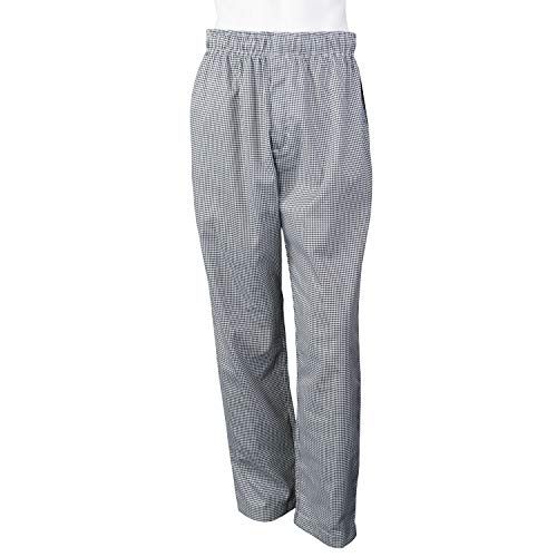 Chef Code Baggy Chef Pants with Zipper Fly CC224 (Houndstooth, XL)