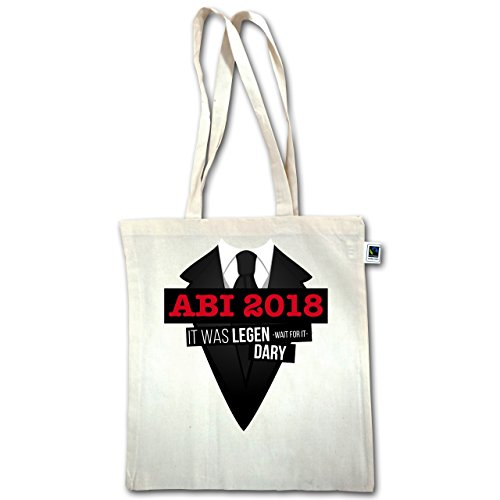 Abi & Abschluss - Abi 2018 - It was legen -wait for it- dary - Unisize - Natural - XT600 - Jutebeutel lange Henkel Wj8HrMF