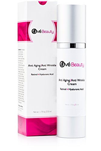 Best Anti Aging Face Cream With Both Retinol and Hyaluronic Acid! LARGE Size Facial Moisturizer For Youthful Radiant Skin | Enriched with Green Tea, Vitamin E & B5