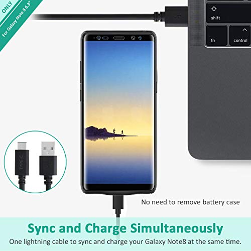 Galaxy Note 8 Battery Case, Stoon 5500mAh Portable Charger Case Rechargeable Extended Battery Pack Protective Backup Charging Case Cover for Samsung Galaxy Note 8(6.3Inch) (Black) by Stoon (Image #5)