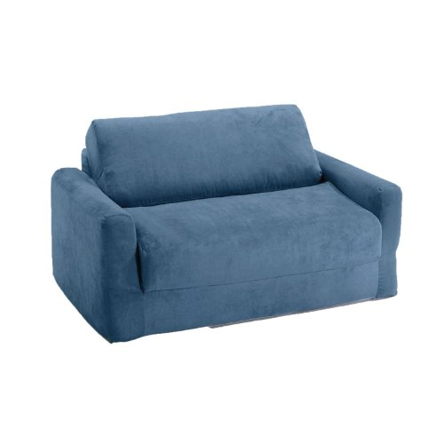 - Fun Furnishings Sofa Sleeper, Blue Micro Suede