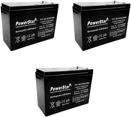 3 Pack - 12V 10Ah Schwinn ST1000, ST-1000 Stealth Scooter Battery