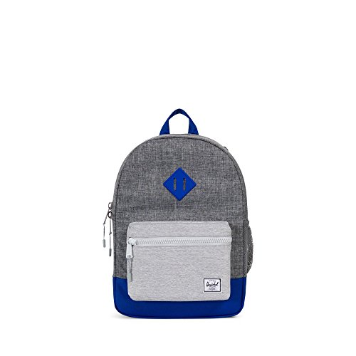 Herschel Supply Co. Heritage Youth Backpack, Raven Crosshatch/Light Khaki Crosshatch/Surf the Web