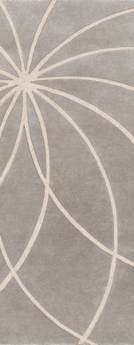 Hand Tufted Bay Leaf (Surya Forum FM-7184 Contemporary Hand Tufted 100% Wool Bay Leaf 3' x 12' Abstract Runner)