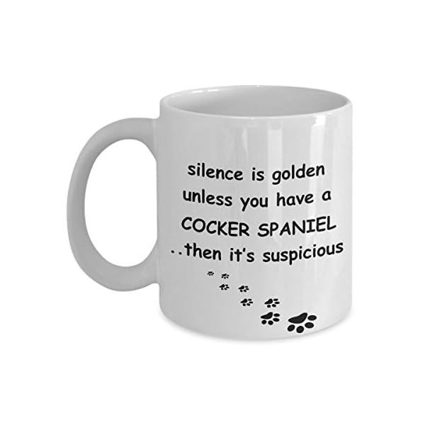 Cocker Spaniel Mug: Silence is Golden American English Dog Coffee Cup 1