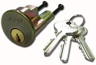 アルファチューブラー本締錠 2190用シリンダーのみ ブロンズ(AG) 色
