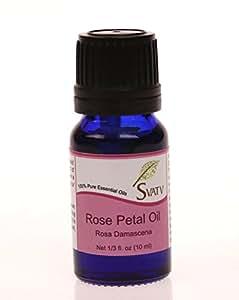 SVATV Rose Petal (Rosa Damascena) Essential Oil 10 mL (1/3 oz) 100% Pure, Undiluted, Therapeutic Grade