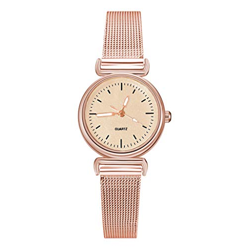 Dial Mesh Bracelet - XBKPLO Quartz Watch Women Vintage Business Analog Wrist Watches Concise Colorful Frosted Dial Wild Ladies Mesh Strap Bracelet Jewelry Gift