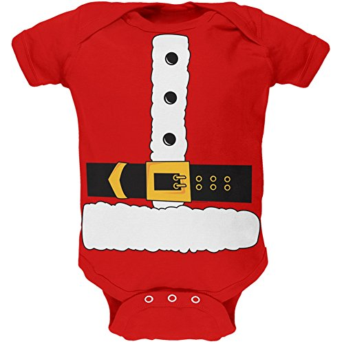 Santa Claus Body Costume Baby One Piece - 0-3 months (Santa Claus Costumes For Sale)