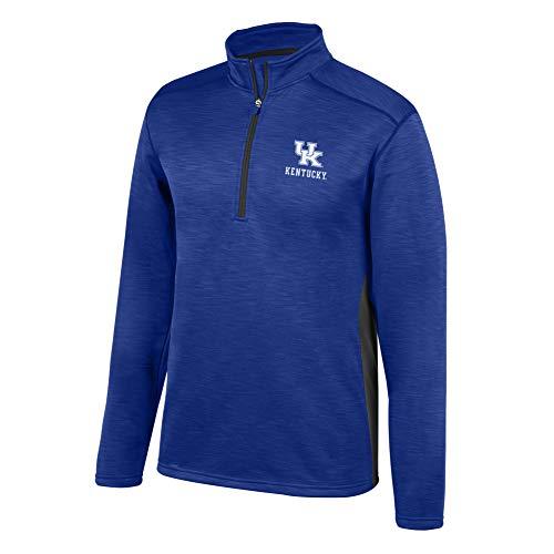 Top of the World NCAA Men's Kentucky Wildcats Poly Cross Dye Next Calibur Half Zip Royal ()