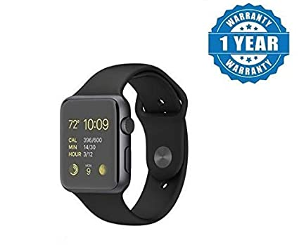 SYL A1 Smart Watch with Camera and Sim Card Support with Apps Like Facebook  and Whatsapp for All 3G & 4G Android/iOS Smartphones - (Black)