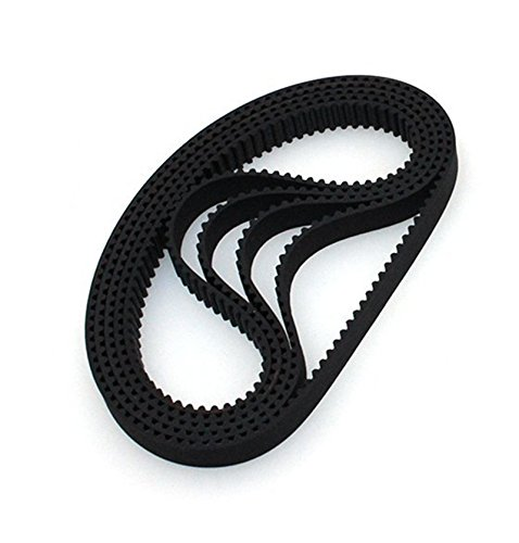 Zomiee 3D Printer Timing Belt GT2-6MM Closed Loop Rubber Belt 200mm Width 6mm (Pack of 5pcs) ZM3D-TB200-5