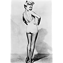 Betty Grable Classic Sexy Leggy Pose 24X36 B&W Poster