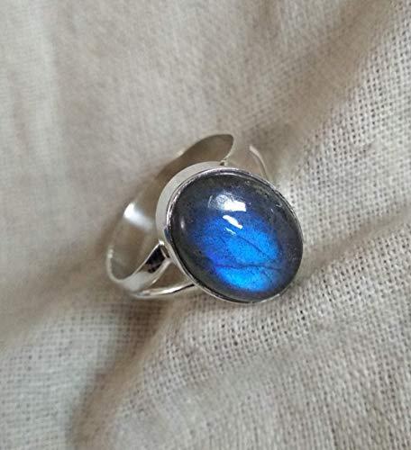 Labradorite Ring, Wedding Ring, Gemstone Ring, Boho Style Ring, Vintage Ring, Delicate Ring, Post Ring, Engagement Ring, Birthday Gift, Handmade Ring, 925 Silver Ring, Wedding Gift Ring, Gift For Her