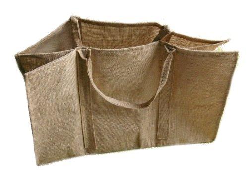 Kaminholztasche, sehr robust, Allzwecktasche, mit zwei Henkel zum leichten Transport, ca. 64 x 31 x 41 cm Amafino