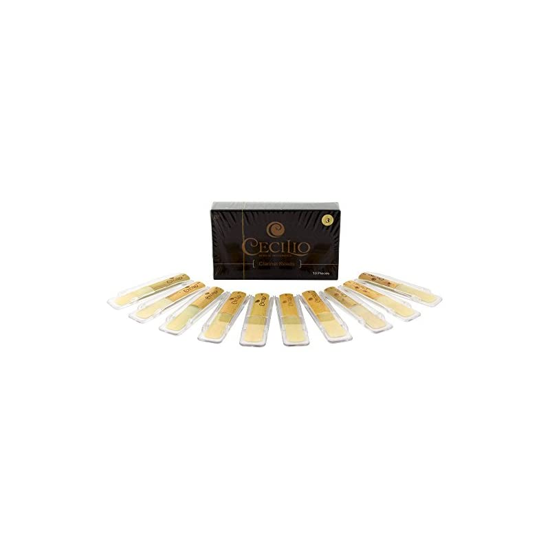 Cecilio Clarinet Reeds, 10-pack with Ind
