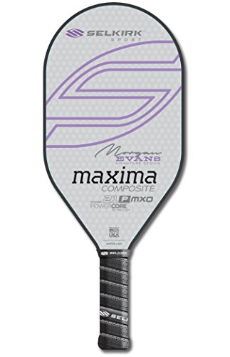 Selkirk Sport Maxima 21P MXO Composite Polymer Elongated Morgan Evans Signature Design Pickleball Paddle (Lavender Purple) by Selkirk Sport (Image #1)
