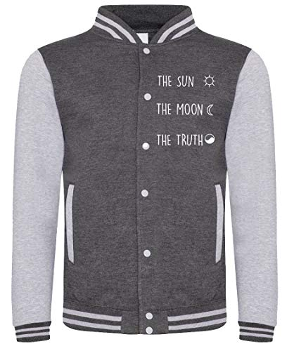 Tv Serie Felpa The College Truth Fashwork Moon In Sun Cotone Teen Grigio Wolf zZB6nnW8q