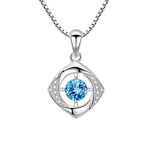Collocation-Online Happy Clover - Silver Clavicle Crystal Zircon Necklace Pendant Trendy Jewelry Simple Birthday Gift