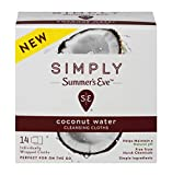 Summer's Eve Simply Cloths | Cucumber Lily | pH Balanced, Free from Harsh Chemicals and Dyes, Cleansing Cloths, 24 Count, Pack of 4
